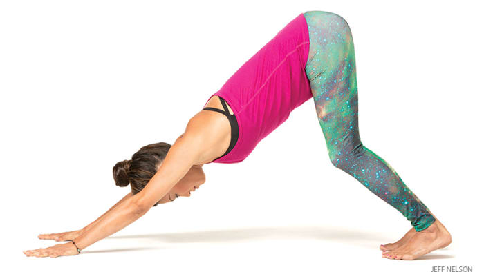 5 Health Benefits of Downward Facing Dog Pose in Yoga - guest post health, fitness seo - letsaskme