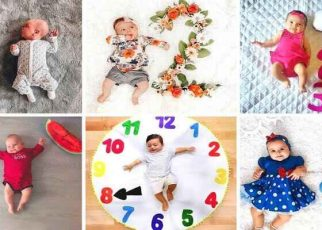 6 Month Baby Boy Photoshoot Ideas At Home